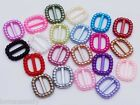 40 Acrylic Mixed Pearl Ribbon Slider Buckles Baby Shower Wedding Craft Cards