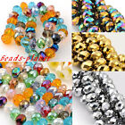 Fashion Faceted Rhinestone Rondelle Loose Beads Findings For Bracelet Necklace