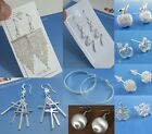 Wholesale Price Fashion Solid Silver Jewelry Lady 925Silver Earrings Dangle Stud