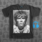Music Threads Unofficial Ian Brown, The Stone Roses indie Charcoal crew t-shirt