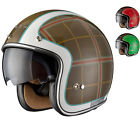 Limited Edition Black Highland Tartan Retro Motorcycle Motorbike Scooter Helmet