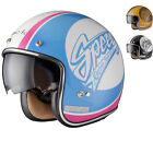 Limited Edition Black Jam 80S Retro Classic Mod Scooter Motorcycle Crash Helmet