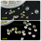 1 Wheel Sharp Bottom Clear Crystal Rhinestone Phone Nail Decorations Collection