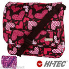 HI TEC Hearts Courier Shoulder Bag Messenger School College Girls Boys Ladies