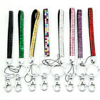 New Bling Rhinestone Key Chain Wristlet Lanyard ID Badge Holder For Cell Phone