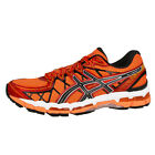 ASICS GEL-KAYANO 20 MEN HERREN LAUFSCHUHE FLASH ORANGE BLACK RUNNING T3N2N-3290
