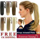 Ladies Clip In Pony Tail Extension Wrap Around Ponytail Straight Hair Piece