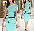 Sexy Women Celeb Slim Bodycon Business Green Evening Party Cocktail Pencil Dress