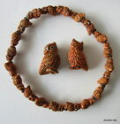 From PERU - Ceramic Burnt Umber coloured Horned OWL BEAD - choice of two sizes