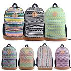 Vintage Women's Girl Canvas Flower Floral Bag Schoolbag Bookbag Travel Backpack