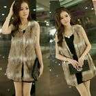 NEW Womens Winter Fashion Warm Faux Fur Long Vest Jacket Coat Waistcoat