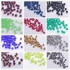 100/500pcs 3mm Faceted Round Glass Crystal Charms Findings Loose Spacer Beads