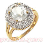 Gold Plated Sterling Silver White Topaz & Diamond Cocktail Ring (Retail £79.99!)