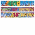 HAPPY BIRTHDAY 18th 40th 60th PARTY BANNERS WALL DECORATION