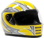 Youth Full Face Helmet Yellow - Motorcycle