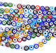 Wholesale Mixed EVIL EYE FLAT Round MILLEFIORI Glass BEADS 6MM 8MM 10MM 12MM