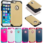 Colorful Hybrid Dual Layer Durable Slim Case Cover Protector For iPhone 6 4.7""
