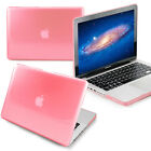 """fit Macbook Pro 13"""" A1278(Pink-Clear)Crystal See-Thru Hard glossy Case shell new"""