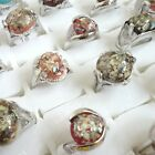 10pcs-30pcs wholesale jewelry fashion Abalone Shell silver p rings free shipping