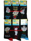 3 Mens Family Guy 100% Official Cartoon Novelty Character Socks / UK 6-11