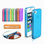 New Soft Matte Slim Silicone TPU Gel Case Cover For Apple iPhone 4S 4G 4 AUS