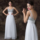 Stunning Sequins Formal Prom Gowns Bridesmaid Wedding Party Pageant Long Dresses