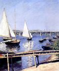 SAILBOATS IN ARGENTEUIL FRANCE 1888 IMPRESSIONIST PAINTING BY CAILLEBOTTE REPRO