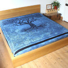 Tree of Life Spirit O Trees bedspread throw Fair Trade backdrop Pagan Bed cover