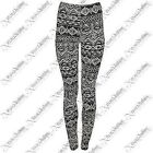 WOMENS LYCRA AZTEC NORDIC PRINT LEGGINGS LADIES FULL LENGTH STRETCH PANTS SEXY