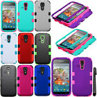 For Kyocera Hydro Vibe C6725 Impact TUFF HYBRID Rubber HARD Case Cover + Pen