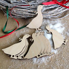 Wooden Hanging Decoration Christmas Tree Blank Geese Craft Shape