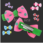 Cute Sweet Dot Bow Bowknot Children Hair Bands Clip Student Girls Styling New x2