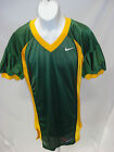 College Authentic Blank Football Jersey Green Gold Trim and Sides Pro Cut