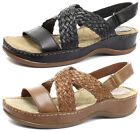 New Hush Puppies Ceylon Sling Womens Low Wedge Sandals ALL SIZES AND COLOURS