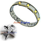 Mens Surgical Stainless Steel Magnetic Golf Bracelet E