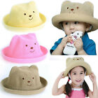 Baby Boys Girls Straw Summer Beach Party Toddler Kids Chidren Animal Sun Hat