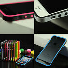 Hot Pretty TPU Bumper Hard Case Skin with Side Button For iPhone4 4S 4G Jf385