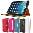 gorillagard Full Body Tan Leather Wallet Smart Case Cover Stand for iPad 2 3 4