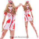 I90 Zombie Nurse Fancy Dress Horror Bloody Scary Halloween Party Costume Outfit