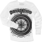 Men's Steampunk Compass by Steadfast Brand Thermal White Long Sleeve T-Shirt