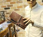 Cool Men's Genuine Leather Business Clutch Wrist Bag Handbag Briefcases Wallet