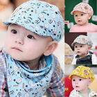 Infant kid boys new  Baseball Peaked Beret Beanie Cap Sun Hat Triangle Scarf hot