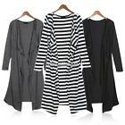 Light Women Full Summer Open Maxi Cardigan Coat Outwear Long Shirt Dress N98B