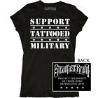 Women's Tattooed Military by Steadfast Support Troops Black T-Shirt Top