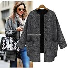 New Fashion Single Breasted Winter Women's Outerwear Jacket Long Trench Coat N98