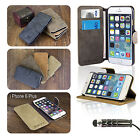 FLIP WALLET LEATHER CASE COVER For APPLE IPHONE 6 PLUS 5.5 INCH+SCREEN PROTECTOR
