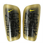 Nike Neymar Mercurial Lite Football Slip-in Shinguards Shin Pads - Gold & Black