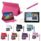 """New Galaxy Tab 2 10.1 10"""" Tablet Case PU Leather Magnetic Folding Cover Stand"""