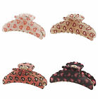 Love Heart Printed Large Hair Jaw Claw Clips Women's Hair Accessory H0161