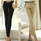 Chic Ladies Slim Fit Skinny Formal OL Pencil Pants Business Casual Long Trousers